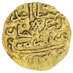 EGYPT: Ahmed II, 1691-1695, AV sherefi altin (sultani) (3.48g), Misr, AH1102. VF-EF