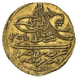 EGYPT: Mahmud I, 1730-1754, AV zeri mahbub (2.60g), Misr, AH1143. AU
