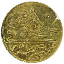 EGYPT: Abdul Hamid I, 1774-1789, AV zeri mahbub, Misr, AH1187. ANACS MS62