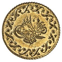 EGYPT: Mahmud II, 1808-1839, AV 10 qirsh (0.78g), Misr, AH1223 year 29. BU
