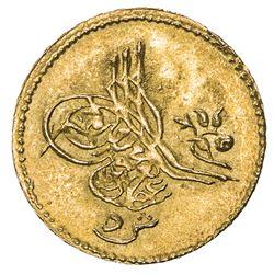 EGYPT: Abdul Aziz, 1861-1876, AV 5 qirsh (0.44g), Misr, AH1277 year 6. UNC