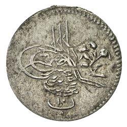 EGYPT: Abdul Hamid II, 1876-1909, AR 10 para (0.24g), Misr, AH1293 year 3. EF