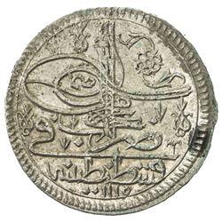 TURKEY: Ahmad III, 1703-1730, AR 10 para (onluk) (6.47g), Kostantiniye, AH1115. AU