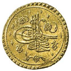 TURKEY: Mahmud I, 1730-1754, AV sultani (findik) (3.49g), Islambul, AH1143. EF