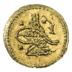 TURKEY: Selim III, 1789-1807, AV 1/4 zeri mahbub (0.57g), Islambul, 1203 year 8. UNC