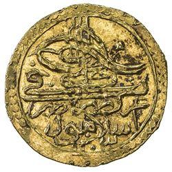 TURKEY: Selim III, 1789-1807, AV zeri mahbub (2.37g), Islambul, 1203 year 19. UNC