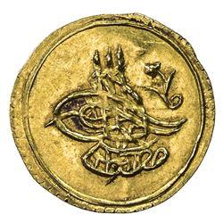 TURKEY: Mustafa IV, 1807-1808, AV 1/4 altin (0.79g), Kostantiniye, AH1222 year 1. UNC