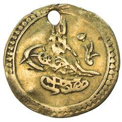 TURKEY: Mustafa IV, 1807-1808, AV 1/4 sultani (0.71g), Kostantiniye, AH1222 year 2. VF