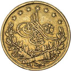 TURKEY: Abdul Mejid, 1839-1861, AV 100 kurush, Kostantiniye, AH1255 year 15. F