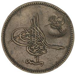 TURKEY: Abdul Aziz, 1861-1876, AE 20 para, Kostantiniye, ND