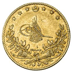 TURKEY: Murad V, 1876, AV 50 kurush, Kostantiniye, AH1293 year 1. AU
