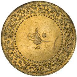 TURKEY: Abdul Hamid II, 1876-1909, AV 250 kurush (17.41g), Kostantiniye, AH1293 year 26. EF