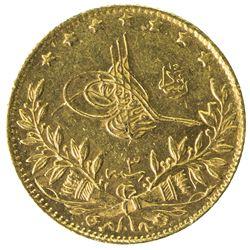 TURKEY: Mehmet V, 1909-1918, AV 50 kurush, Salanik, AH1327 year 3. UNC