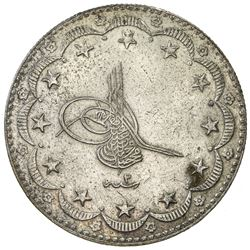 TURKEY: Mehmet VI, 1918-1924, AR 20 kurush, Kostantiniye, AH1336 year 2. EF