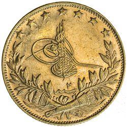 TURKEY: Mehmet VI, 1918-1924, AV 100 kurush, Kostantiniye, AH1336 year 2. UNC