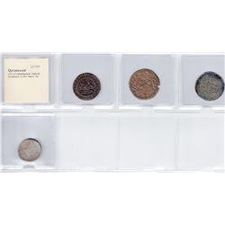 QARAKHANID: LOT of 1 Safavid and 3 Qarakhanid coins
