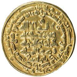 BUWAYHID: Baha' al-Dawla, 989-1012, AV dinar (3.69g), Suq al-Ahwaz, AH399. EF