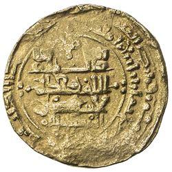 GREAT SELJUQ: Malikshah I, 1072-1092, AV dinar (3.51g), MM, AH484. VF