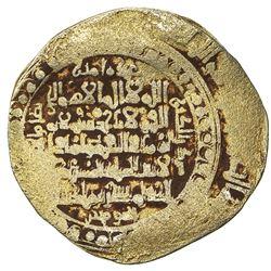 GREAT SELJUQ: Sanjar, 1097-1098, pale AV dinar (3.61g), Balkh, DM. F-VF