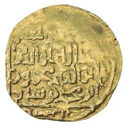 GHORID: Mahmud b. Muhammad, 1206-1212, AV broad dinar (5.42g), MM, AH603. VF