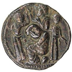 ARTUQIDS OF MARDIN: Yuluq Arslan, 1184-1201, AE dirham (13.50g), NM, AH589. VF