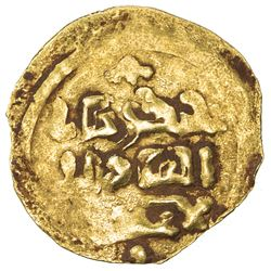 GREAT MONGOLS: Chingiz Khan, 1206-1227, AV dinar (1.82g), Bukhara, DM. VF