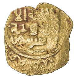 GREAT MONGOLS: Anonymous, ca. 620s-640s, AV dinar (3.39g), Samarqand, ND. F-VF