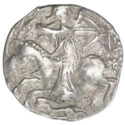 GREAT MONGOLS: Toregene, 1241-1246, AR dirham (2.86g), MM, AH(7)44. VF
