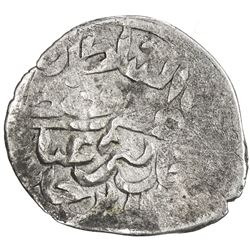 GOLDEN HORDE: Mustafa Khan, 1440s, AR dirham (0.62g), Hajji Tarkhan, ND. F-VF