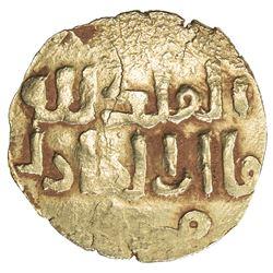 ILKHAN: Anonymous Qa'an al-'Adil, ca. 1270s, AV dinar (2.61g), Marw, ND. VF