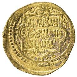 ILKHAN: Abu Sa'id, 1316-1335, AV dinar (7.79g), Shiraz, AH720. VF