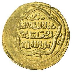 ILKHAN: Abu Sa'id, 1316-1335, AV dinar (8.90g), Basra, AH72x. EF