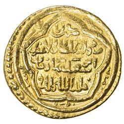 ILKHAN: Abu Sa'id, 1316-1335, AV dinar (8.56g), Baghdad, AH723. VF