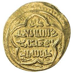 ILKHAN: Abu Sa'id, 1316-1335, AV dinar (8.61g), Wasit, AH722. VF