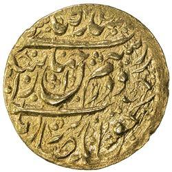 ZAND: Karim Khan, 1753-1779, AV 1/4 mohur (2.73g), Khuy, AH1193. EF