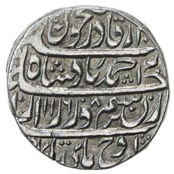 DURRANI: Ahmad Shah, 1747-1772, AR rupee (11.34g), Dera, AH1168 year 8. EF