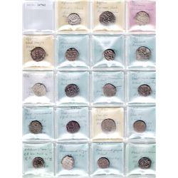 DURRANI & BARAKZAI: LOT of 21 silver coins