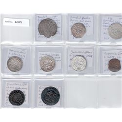 MEDIEVAL ISLAMIC: LOT of 6 silver and 3 copper coins