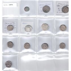 MEDIEVAL ISLAMIC: LOT of 11 silver coins and 1 copper coin