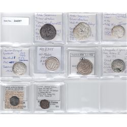 MEDIEVAL ISLAMIC: LOT of 9 silver coins