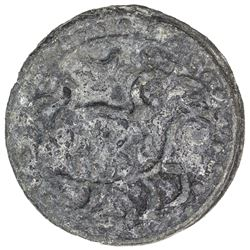 BRUNEI: Anonymous, 18th century, tin pitis (4.25g). VF