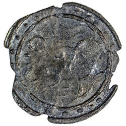 BRUNEI: Anonymous, 18th-19th century, tin pitis (2.2g). EF