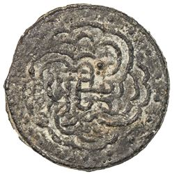 BRUNEI: Anonymous, 18th-19th century, anepigraphic tin pitis (2.33g). VF