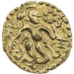 CEYLON (MEDIEVAL): Anonymous, ca. 11th century, AV pala ( 1/4 kahavanu) (0.85g). EF