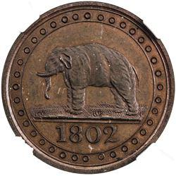 CEYLON: George III, 1760-1820, AE 1/192 rixdollar, 1802. NGC PF66