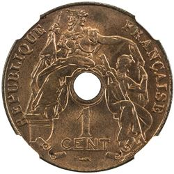 FRENCH INDOCHINA: cent, 1920-A. NGC MS65