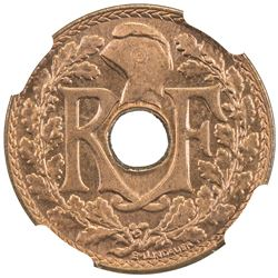 FRENCH INDOCHINA: bronze 1/2 cent, 1939(a). NGC MS66