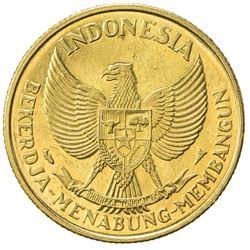 INDONESIA: AV 25 rupiah (14.95g), ND (1952). UNC