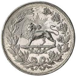 IRAN: Nasir al-Din Shah, 1848-1896, AR 5000 dinars, Tehran, AH1297. AU