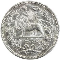 IRAN: Muzaffar al-Din Shah, 1896-1907, AR 5000 dinars, AH1320. PCGS MS63